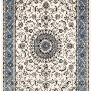 picnic hire pale blue persian rug