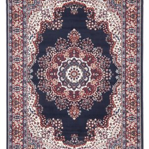 picnic hire persian rug dark blue