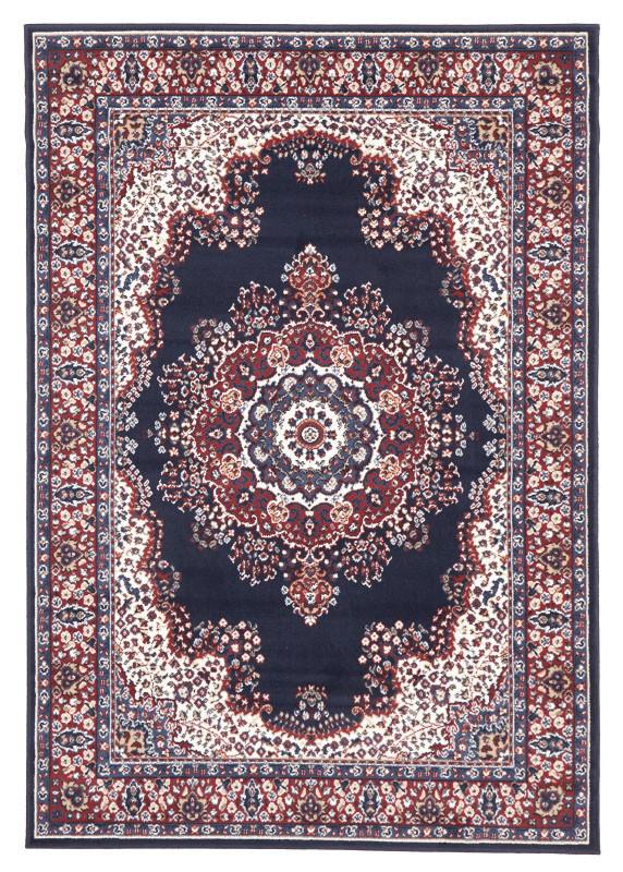 picnic hire persian rug dark blue
