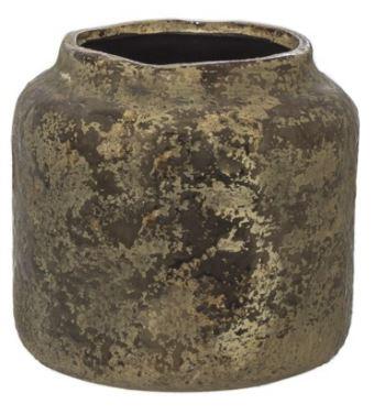 picnic hire brass ceramic vase