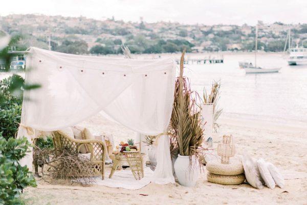 boho beach tent hire