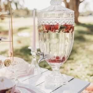 picnic hire crystal drink dispenser