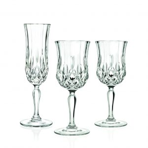 picnic hire crystal glassware