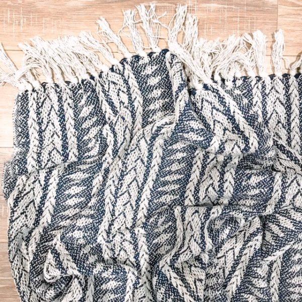 navy boho throw rug