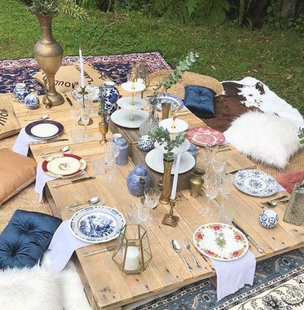 picnic hire pallet tables