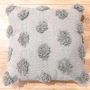 blue tufted cushion hire
